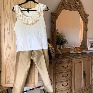 Ralph Lauren top and pants
